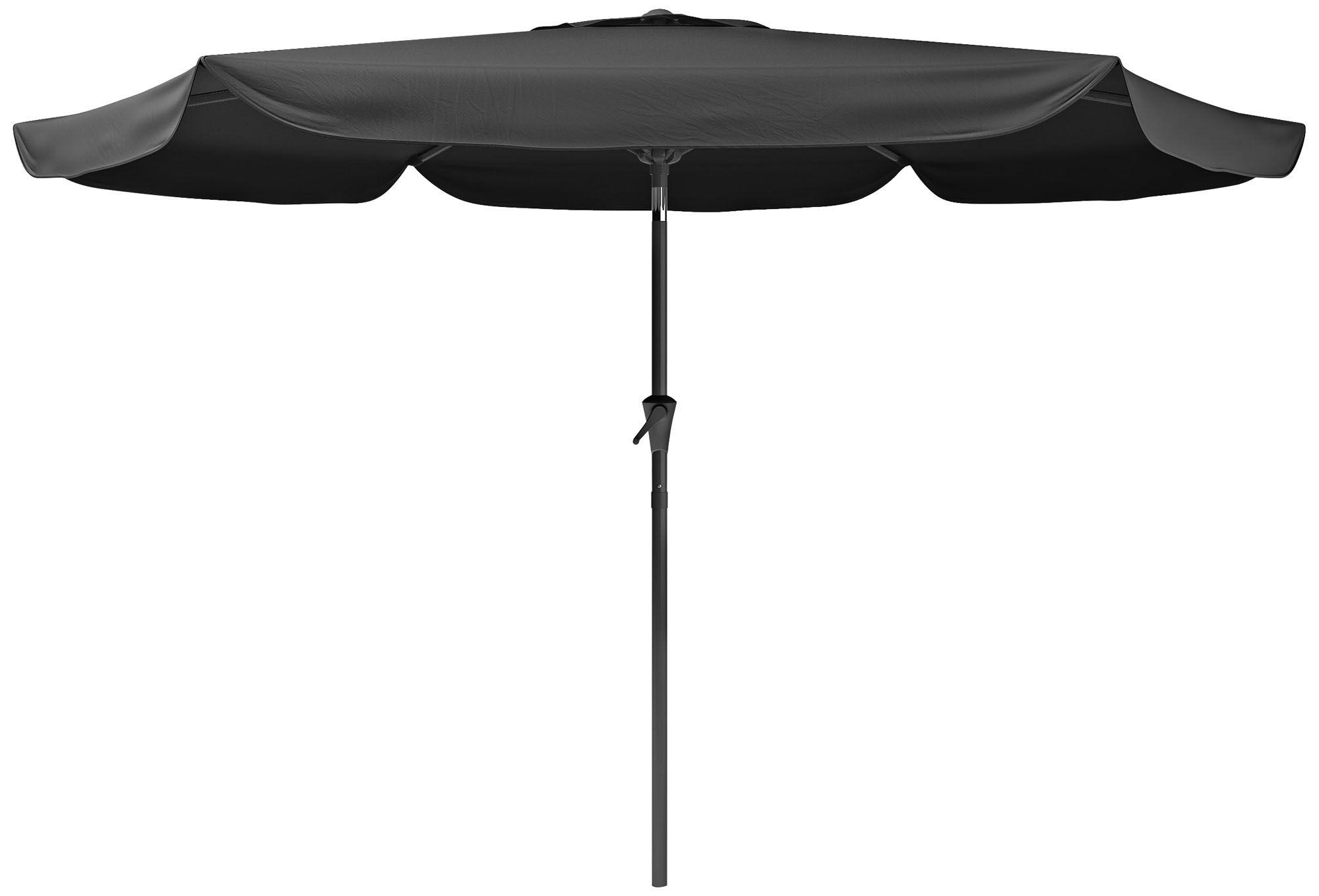 Superb Hoba 9 3/4 Foot Black Fabric Tilting Patio Umbrella