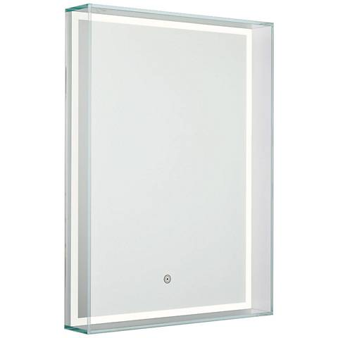 "Aptations Ice Box 23 3/4""x31 1/2"" LED Vanity Mirror"