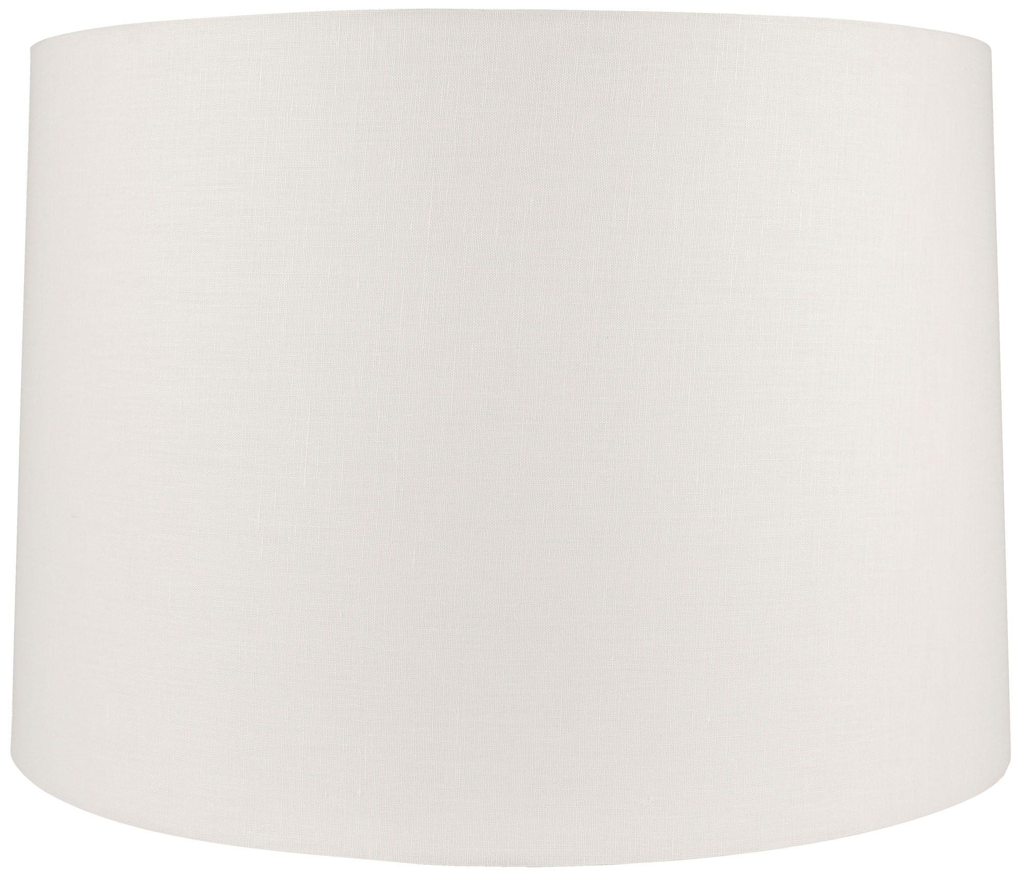white linen hardback drum lamp shade 17x20x13 spider - Rectangular Lamp Shades