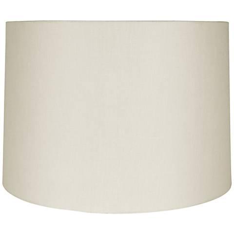 Eggshell Linen Hardback Drum Lamp Shade 17x20x13 (Spider)