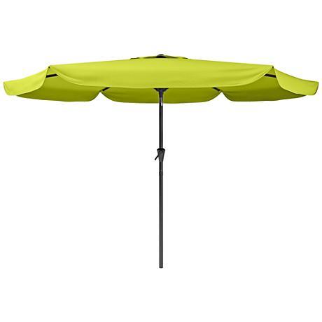 Hoba 3-Meter Lime Green Fabric Tilting Patio Umbrella