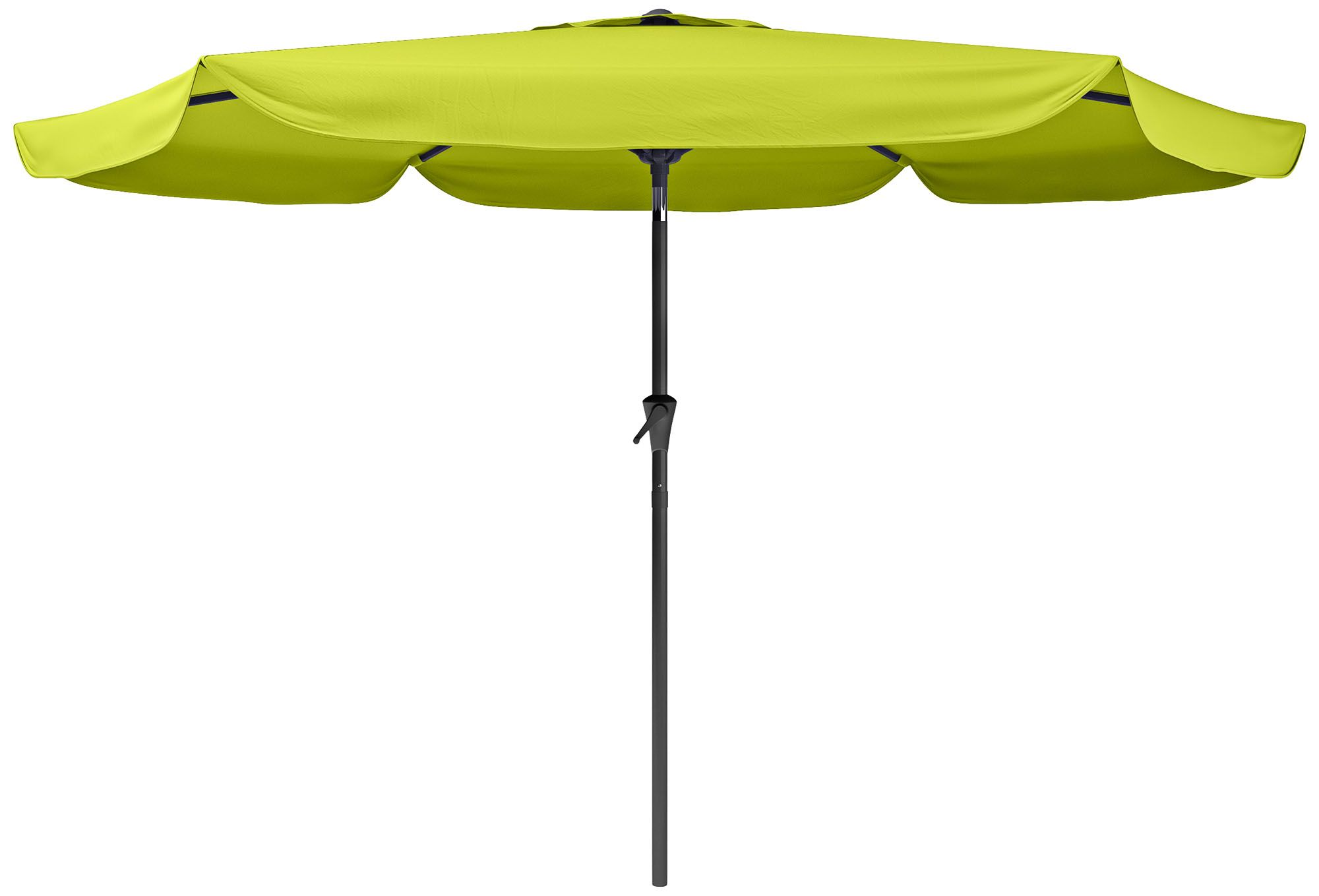 Hoba 9 3/4 Foot Lime Green Fabric Tilting Patio