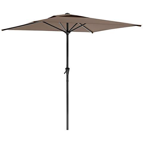 Shala 2m Sandy Brown Fabric Tilting Square Patio Umbrella