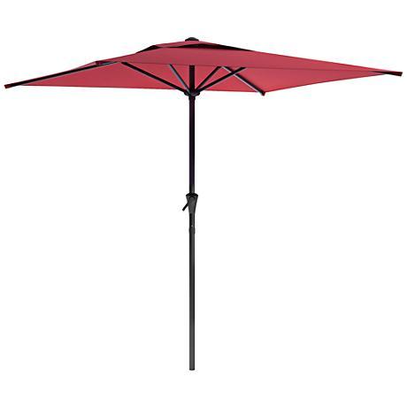 Shala 2m Wine Red Fabric Tilting Square Patio Umbrella