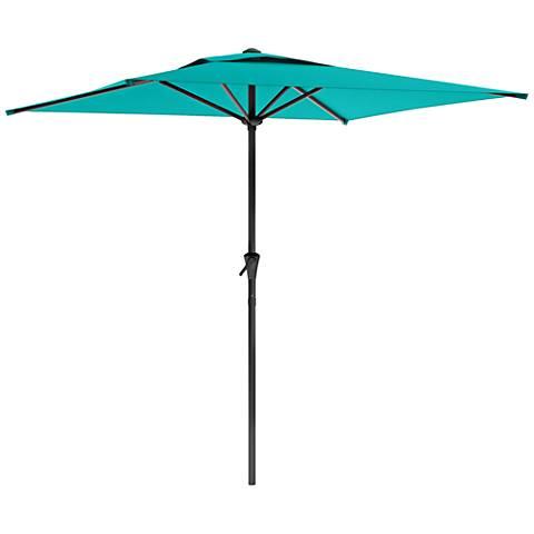 Shala 9-Foot Turquoise Tilting Square Patio Umbrella