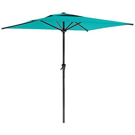 Shala 2m Turquoise Fabric Tilting Square Patio Umbrella