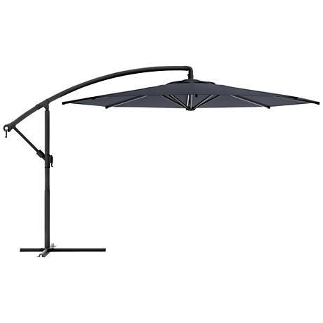 Meco 3-Meter Black Fabric Offset Patio Umbrella