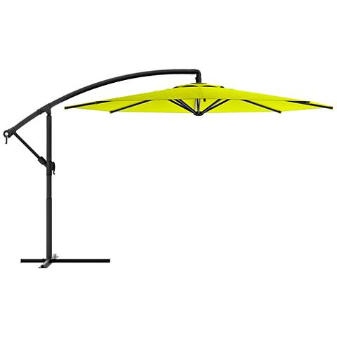 Meco 9 3/4-Foot Lime Green Fabric Offset Patio Umbrella