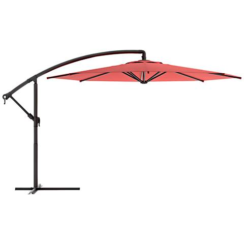 Meco 9 3/4-Foot Wine Red Fabric Offset Patio Umbrella