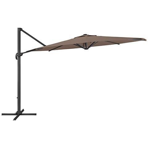 Tava 11 1/3-Foot Sandy Brown Deluxe Offset Patio Umbrella