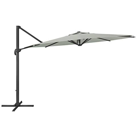 Tava 11 1/3-Foot Sand Gray Deluxe Offset Patio Umbrella