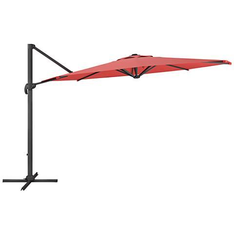 Tava 11 1/3-Foot Wine Red Deluxe Offset Patio Umbrella