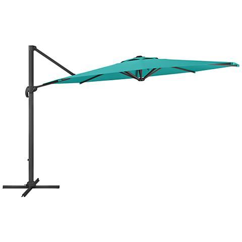 Tava 11 1/3-Foot Turquoise Deluxe Offset Patio Umbrella