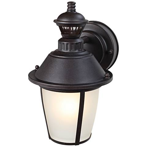 "Heritage Bronze 11 3/4""H Motion Sensor Outdoor Wall Light"