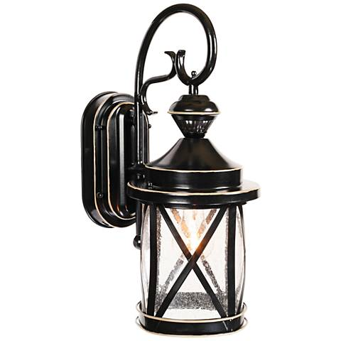 "Marietta Black 18 1/4""H Motion Sensor Outdoor Wall Light"