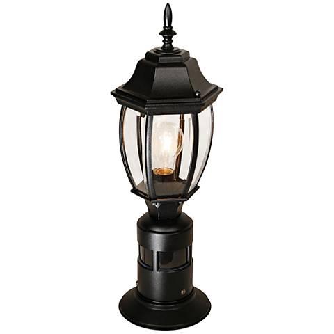 """Fenwood Black 17""""H 360-Degree Motion Sensor Post Light"""