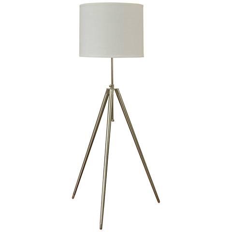 Urban Studio Brushed Steel Tripod Floor Lamp