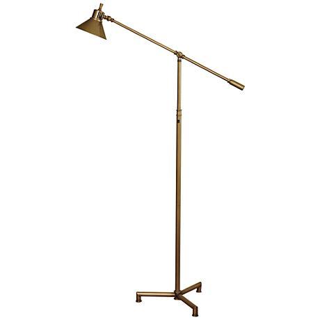 Kennedy Hemlock Brass Metal LED Task Floor Lamp