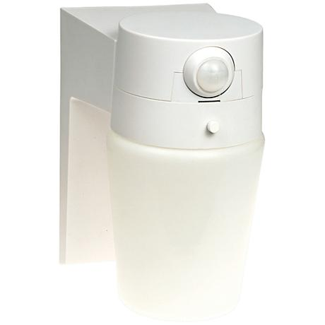 "Entryway White 8 1/4"" High Motion Sensor Security Light"