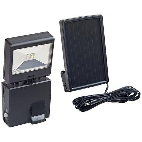 220 Lumen LED Black Motion-Activated Solar Security Light
