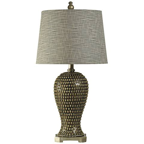 Calysto Celina Beaded Gold Table Lamp