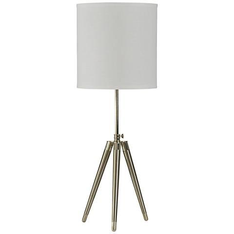 Urban Studio Brushed Steel Tripod Table Lamp