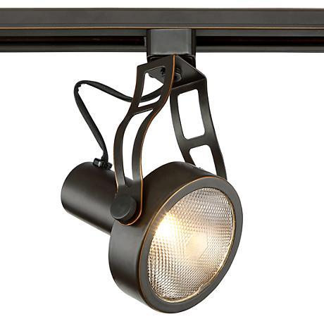 LED Pro Track Bronze Open Back Spotlight PAR30 Halo Track Head 1X364 1D505