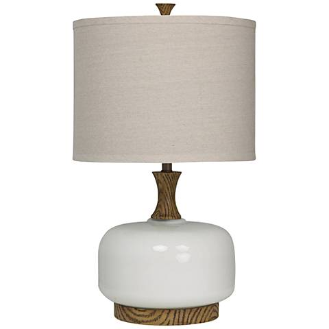 Glenwood Chevelle White Wood Grain Table Lamp
