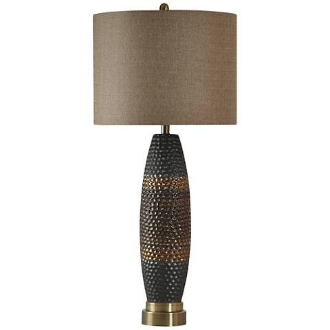 nanimo laughlin hammered metal table lamp 1x370 lamps plus. Black Bedroom Furniture Sets. Home Design Ideas