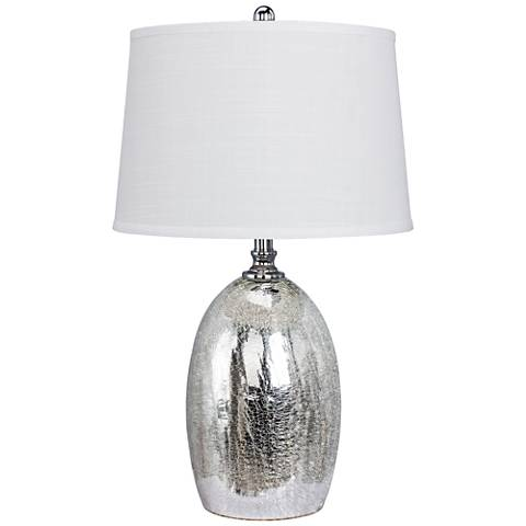 Fantina Silver Glass Table Lamp