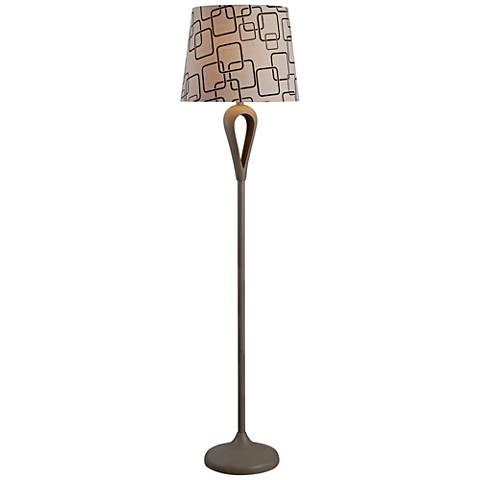 Kenroy Home Parfume Gray Floor Lamp
