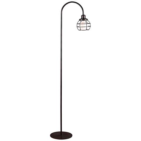 Kenroy Home Caged Oil Rubbed Bronze Floor Lamp