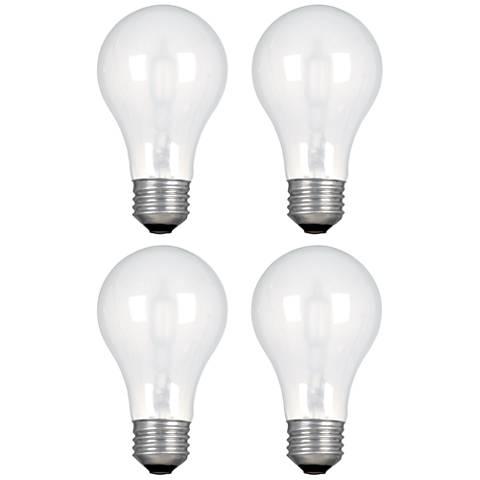 GE 53 Watt 1050 Lumen Halogen A19 Light Bulb 4-Pack