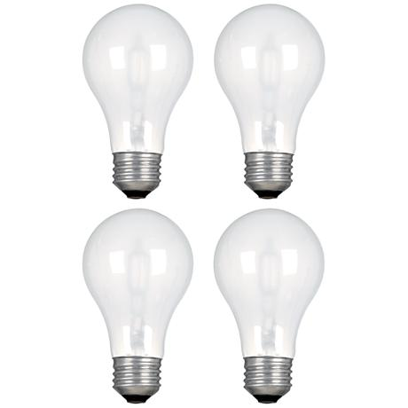 ge 53 watt 890 lumen halogen a19 light bulb 4 pack 1x534 lamps plus. Black Bedroom Furniture Sets. Home Design Ideas