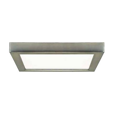 "Blink Brushed Nickel 7"" Wide Square LED Ceiling Light"
