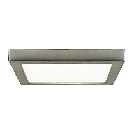 """Blink Brushed Nickel 7"""" Wide Square LED Ceiling Light"""