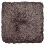 "Dallas Brown 20"" Square Decorative Shag Pillow"