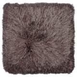 """Dallas Brown 20"""" Square Decorative Shag Pillow"""