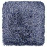 """Dallas Gray-Blue 20"""" Square Decorative Shag Pillow"""
