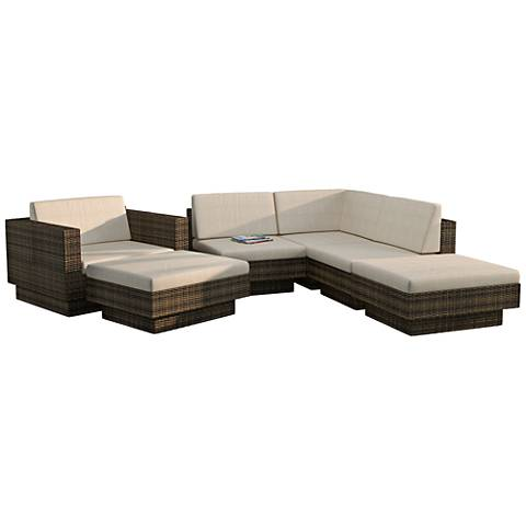 Park Terrace Saddle Strap 6-Pc Piece Sectional Patio Set