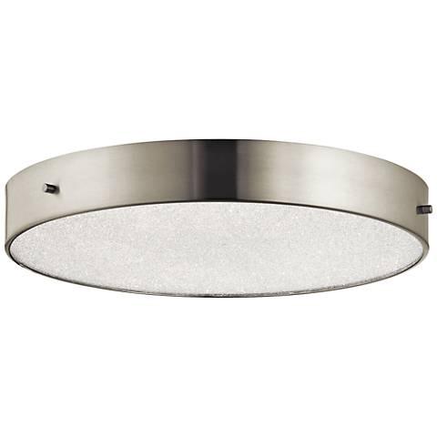 "Elan Crystal Moon Nickel 15 3/4""W LED Round Ceiling Light"