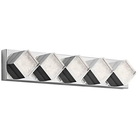 "Elan Gorve Chrome 28 1/4"" Wide 5-LED Linear Bath Light"