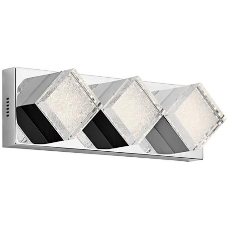 "Elan Gorve Chrome 17"" Wide 3-LED Linear Bath Light"