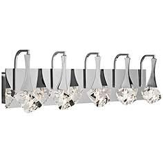 Bathroom Lighting Chrome led bathroom lighting - led vanity lights and light bars | lamps plus