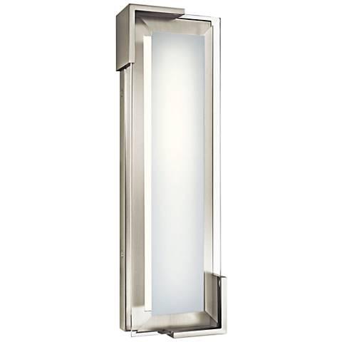 """Elan Jaxen Brushed Nickel 16 3/4"""" Wide LED Bath Light"""