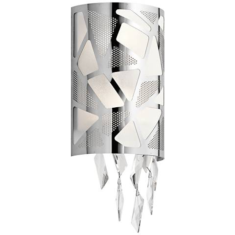 "Elan Angelique Chrome 17 3/4"" High Wall Sconce"