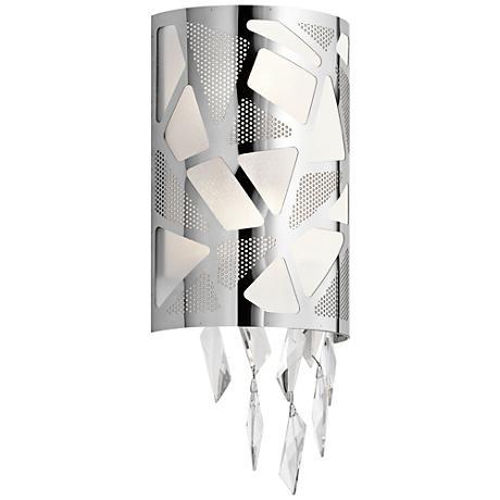 "Elan Angelique Chrome 17 3/4"" High LED Wall Sconce"