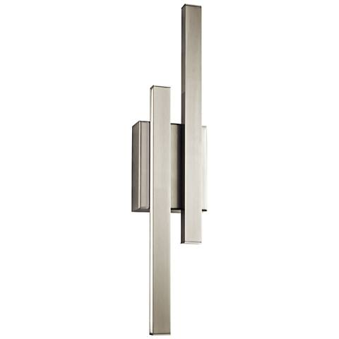 "Elan Idril Brushed Nickel 22 1/4"" High LED Wall Sconce"