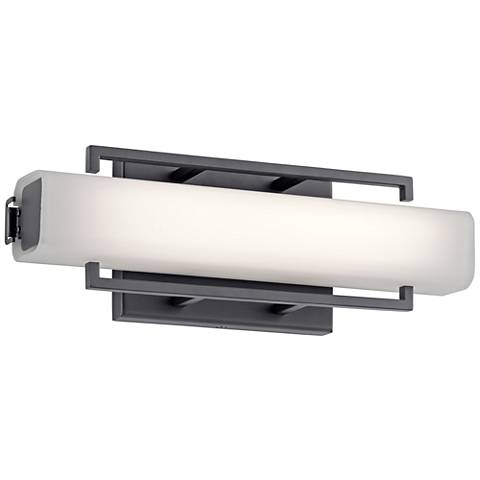 "Elan Perov Bronze Steel 13 1/4"" Wide LED Bath Light"
