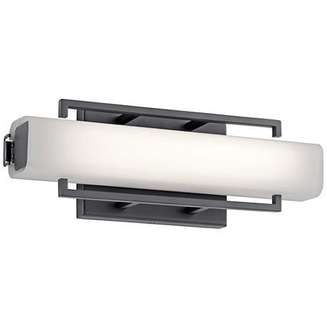"Elan Perov Bronze Steel 13 1/4"" Wide LED Bath Light"